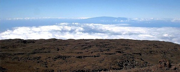 We can see Haleakala on the neighboring island of Maui today.