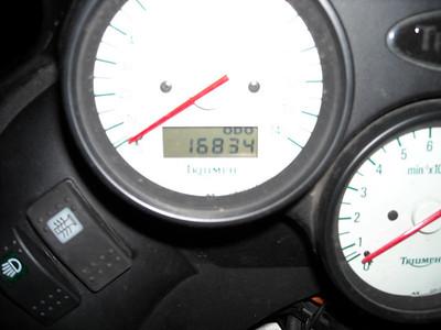 Mileage in the home garage, 4:50 AM, 05/16/09