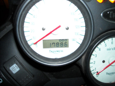Mileage back in the home garage, 1:02 AM, 05/17/09