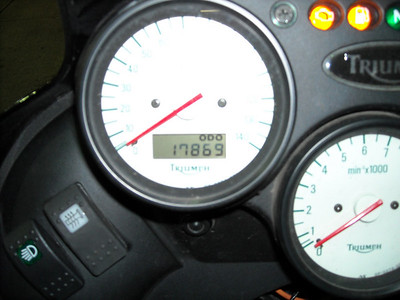 Official end mileage at final stop