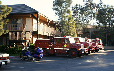 At the motel in Alpine. There were a couple of dozen California Forestry firefighters there for the night.