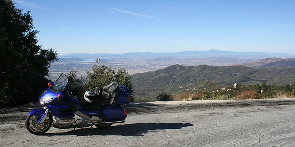 On the road up to Idylwild, looking south to the Salton Sea.