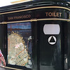 Automatic public toilet.  It runs a 2min cycle to self clean after every use.