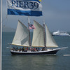 Schooner rides in the bay.   Plenty of wind today.