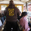 "Trolly operator works the brake and ""go lever"""