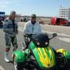 Sanair Track Day, Louie and Luc the Flagman