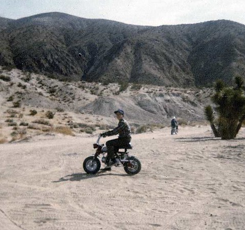 Me on my first bike, a 1969 Honda Minitrail