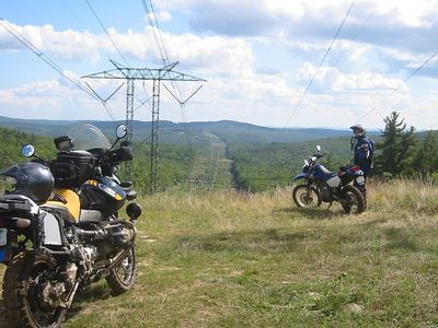 Powerlines that we crossed while on the Poverty Pond Road riding East.