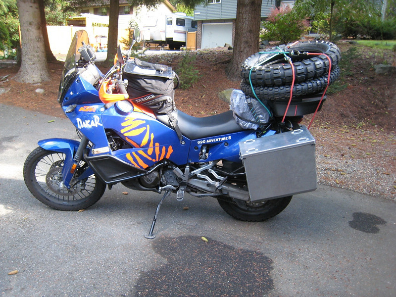 All packed and ready to ride from Woodinville, Washington to Carson City, Nevada