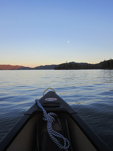 And then, the next night, it was back to the lake for another moonlight paddle.  This evening was the actual full moon.