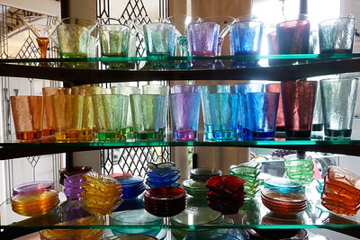 This is the other side of the previous shot.  This glass is made from 100% recycled glass, rescued from the dump!  Just gorgeous.