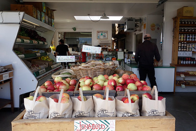 The little store where you can buy apples, cider, and the family's other farm produce.