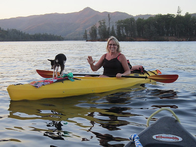 It's still a small world up here.  We met one of Guy's co-workers and her paddling companion, Bella.