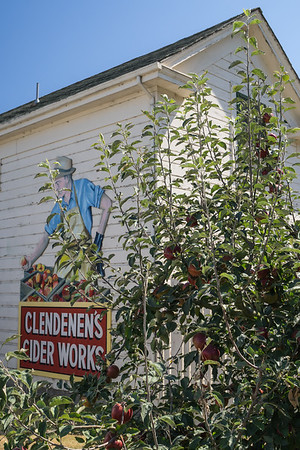 This was our destination - Clendenen's Cider Works.  The family has owned this farm since 1908.