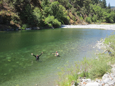 2nd swimming spot of the day, Salmon River