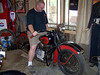Like Dale Walksler's Wheels Through Time Museum, all the bikes that Mike has will run.  He started the Knucklehead for us.
