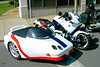 Rich says this sidecar rig was at the Iowa Rally.  It's signed by Larry Biondi--see the previous photo to find out why.
