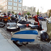 There were a number of old scooters in attendance.  That's a Lambretta in the foreground.