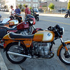 Mine is the red Mystic.  It's not quite vintage but it's an airhead so I parked with the vintage bikes.  Larry's R100S painted like an R90S is behind it.