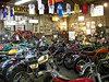 The back room at Classic Motorcycles.
