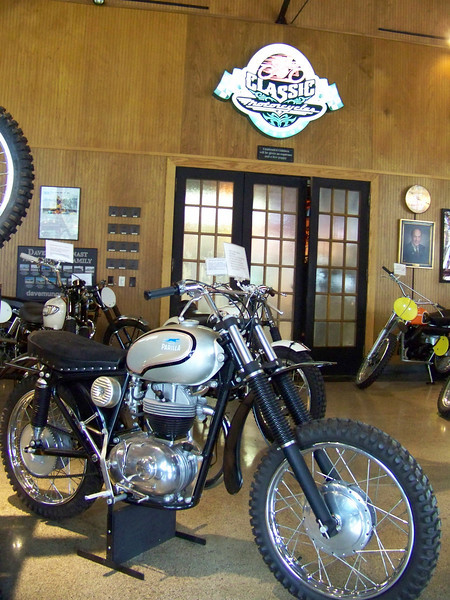 A Parilla at Classic Motorcycles.