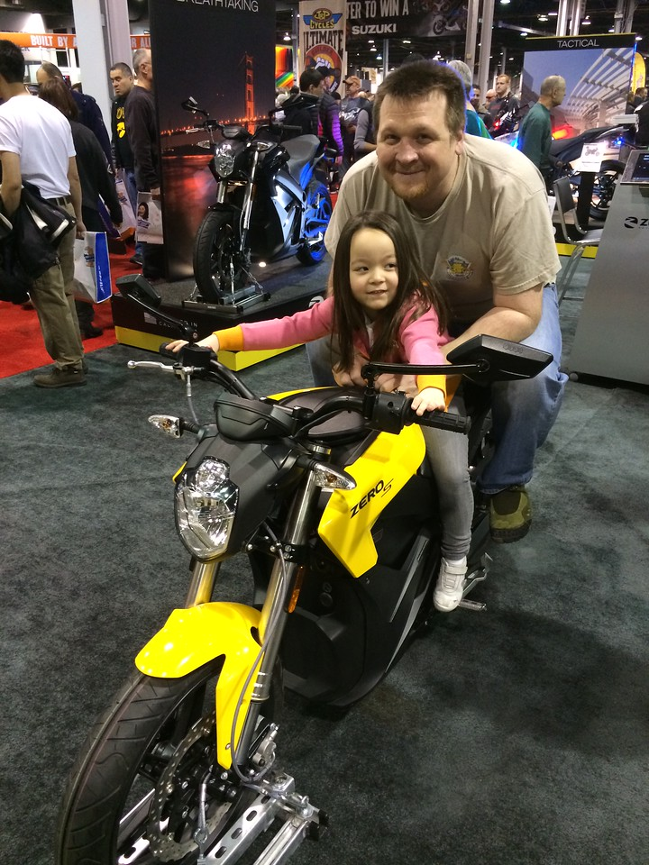 Keira taking her Daddy for a ride.