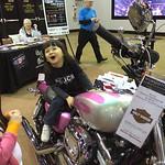 Chloe LOVEs pink Harley