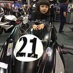 Girl race bike is triumphant