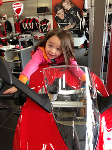 Almost big enough. Give her a couple years and she will be taller than Dani Pedrosa