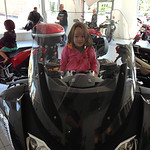 Keira on the big BMW with Chloe on the ST4S in the back