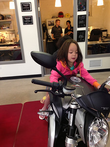 Keira looks so at home on a motorcycle. 4 years old and already taking passengers.  I guess she should look at home, she has been on bikes since she was a few months old.