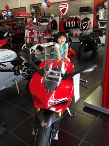 Daddys girl on hopefully someday Daddys bike