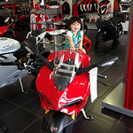 Daddys girl on hopefully someday Daddys bike