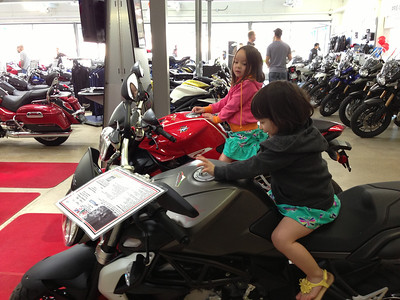 Keira and Chloe on a couple Brutales. One of Dads friends bought one of these (not one of these two) that day.
