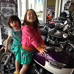 My girls love themselves some classic purple motorcycles. Keira, Chloe and Bonnie