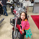 "When we got there Keira ran to this Triumph Rocket III and said ""This one is my favorite!"" Chloe picked out an MV Agusta F4. Guess they both like to go fast but only one of my girls is into  ..."