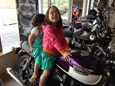 Keira and Chloe on the purple bonnie