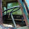 Cobwebs on on railway crane