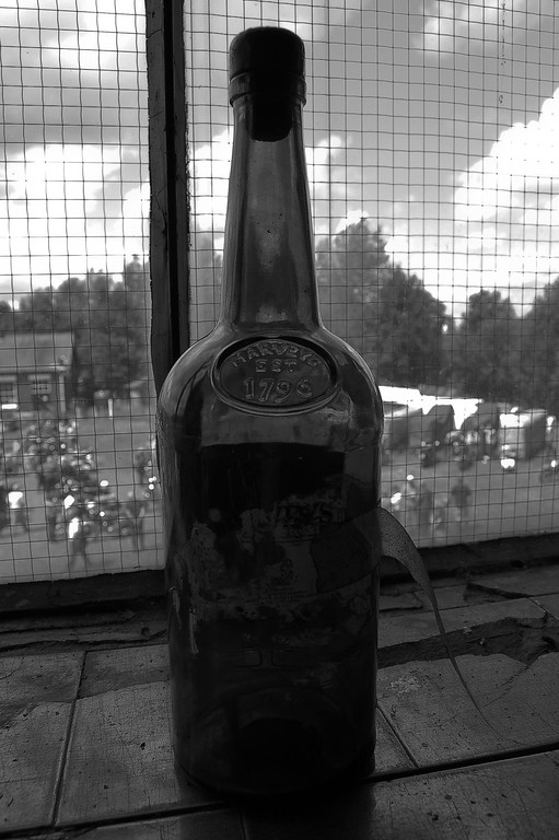 Old Bottle Black and White