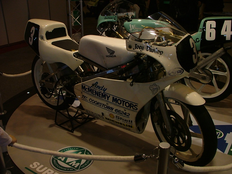 Joey and Robert Dunlop RS125's Bikes Together