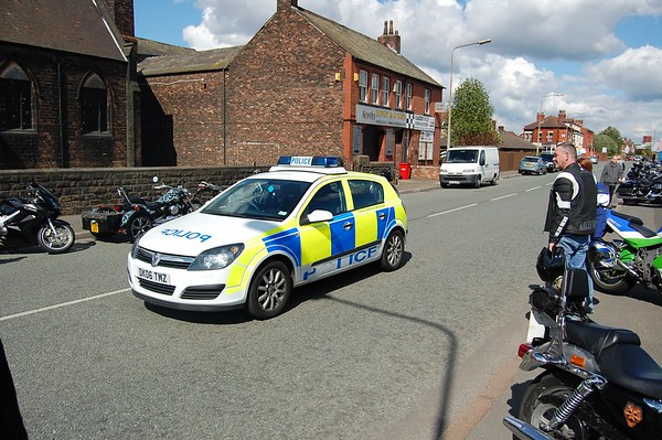 The police drove past many times during the day. Thye had also set up a speed trap on the way into Town on Liverpool road. I didn't see them actualy pull anyone though.