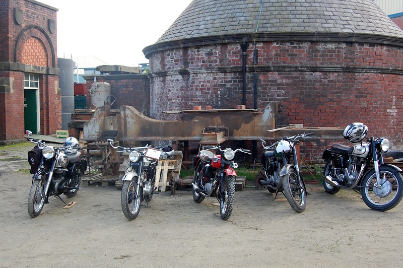 Classic Bikes line up at Ellenroad