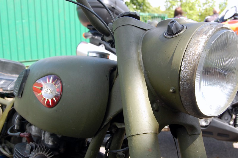 BSA Military Headlight detail
