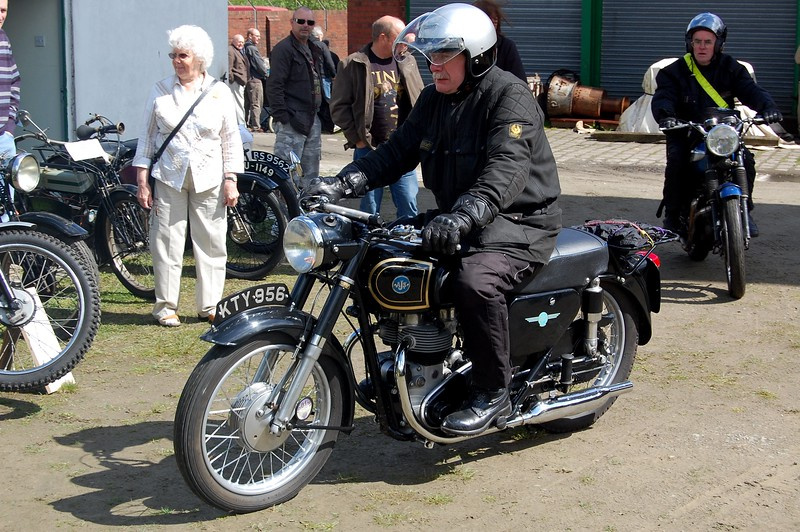 AJS Motorcycle with Rider