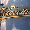 Velocette Decal on Chrome Mudguard