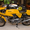 Yellow Norton Commando