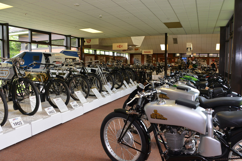 Hall 1 of the Motorcycle Museum