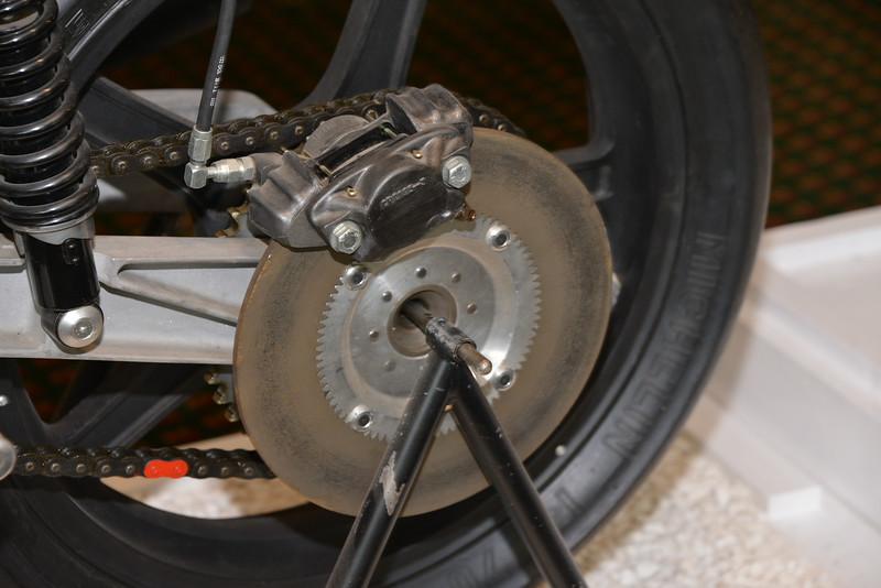 Rear Brake disk on John Player Norton