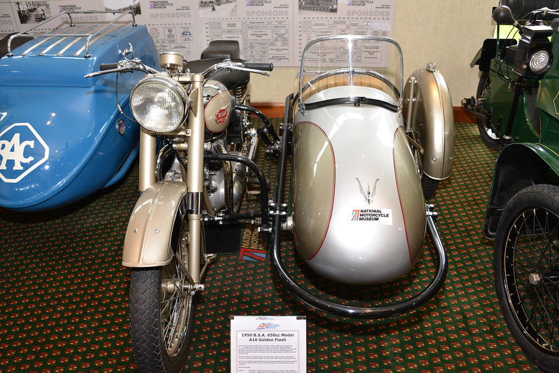 1950 BSA A10 Golden Flash with Sidecar