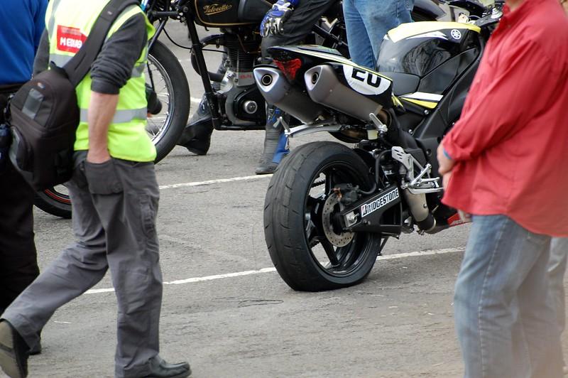 James Toseland Blown rear tyre